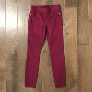 Justice cranberry mid rise leggings